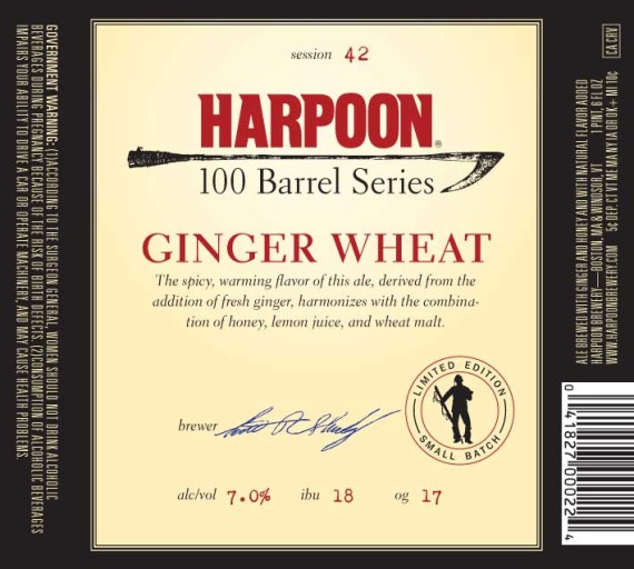 Harpoon 100 Barrel Ginger Wheat