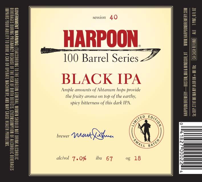 Harpoon 100 Barrel Black IPA