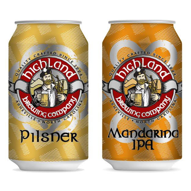 Highland Brewing cans