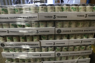 Cans wrapped and ready to go.