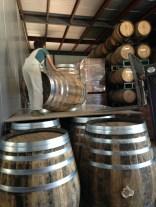 Jester King Barrel Program Head Adrienne Ballou prepping French brandy barrels