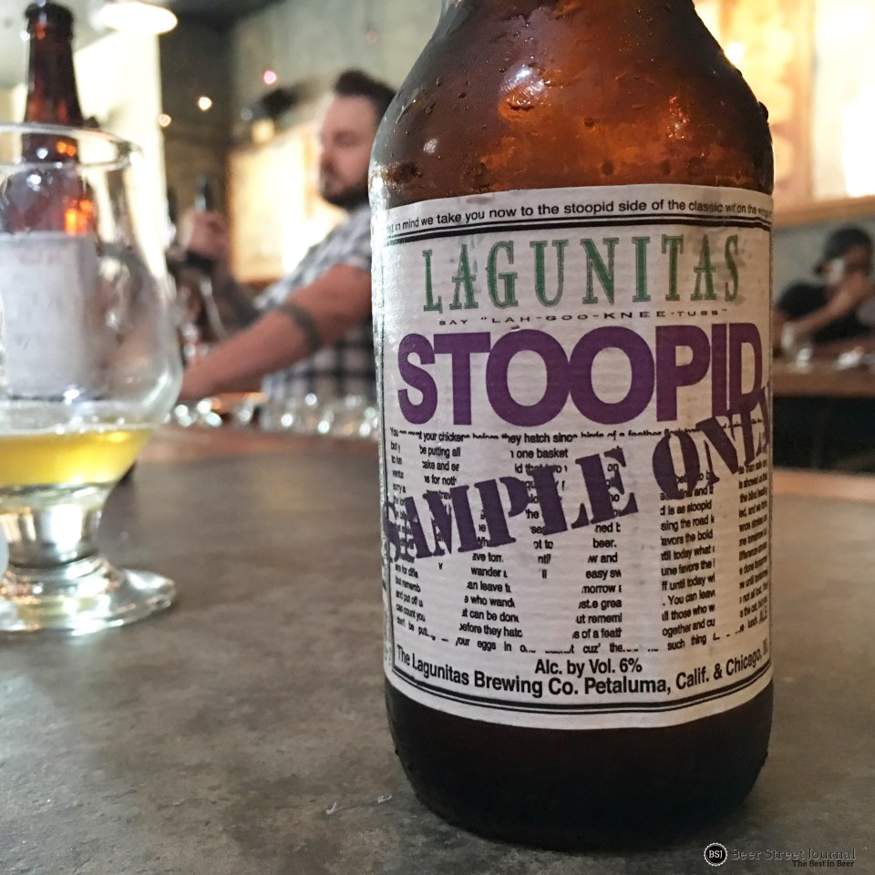 Lagunitas Stoopid Wit bottle