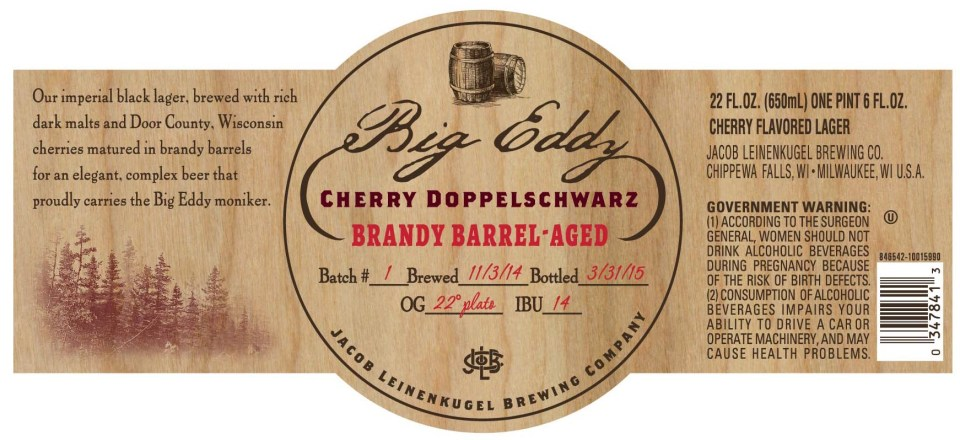 Leinenkugel Big Eddy Cherry Doppleschwarz