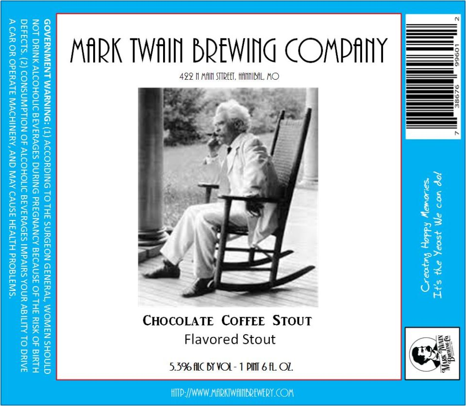 Mark Twain Brewing Chocolate Coffee Stout