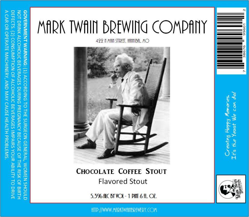 Mark Twain Brewing Chocolate Coffee Stout