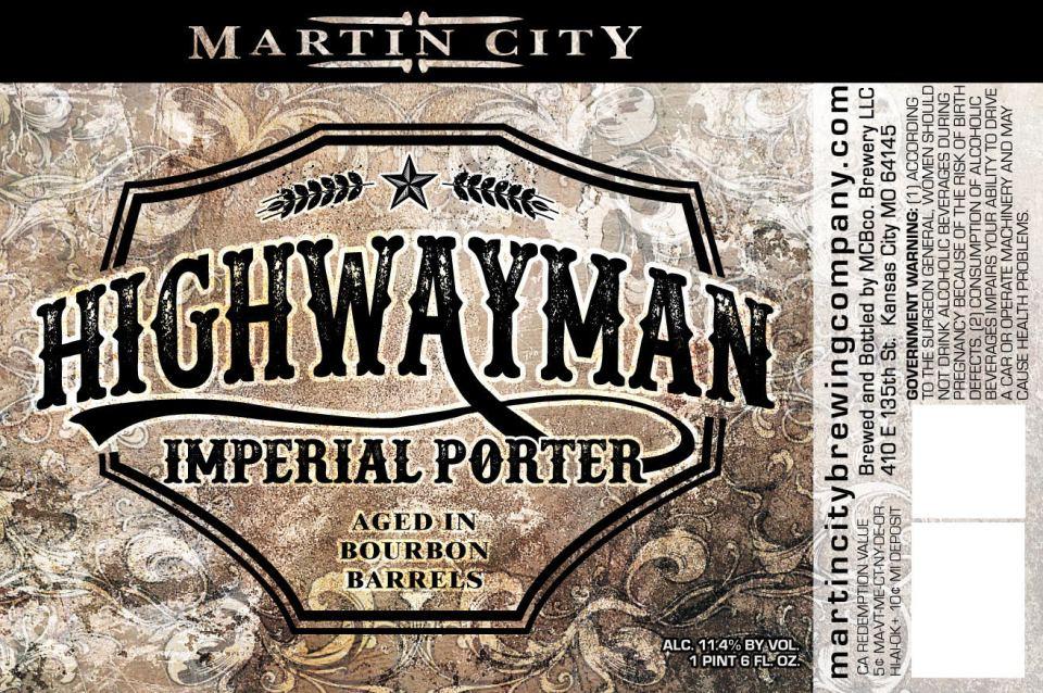 Martin City Highwayman Imperial Porter