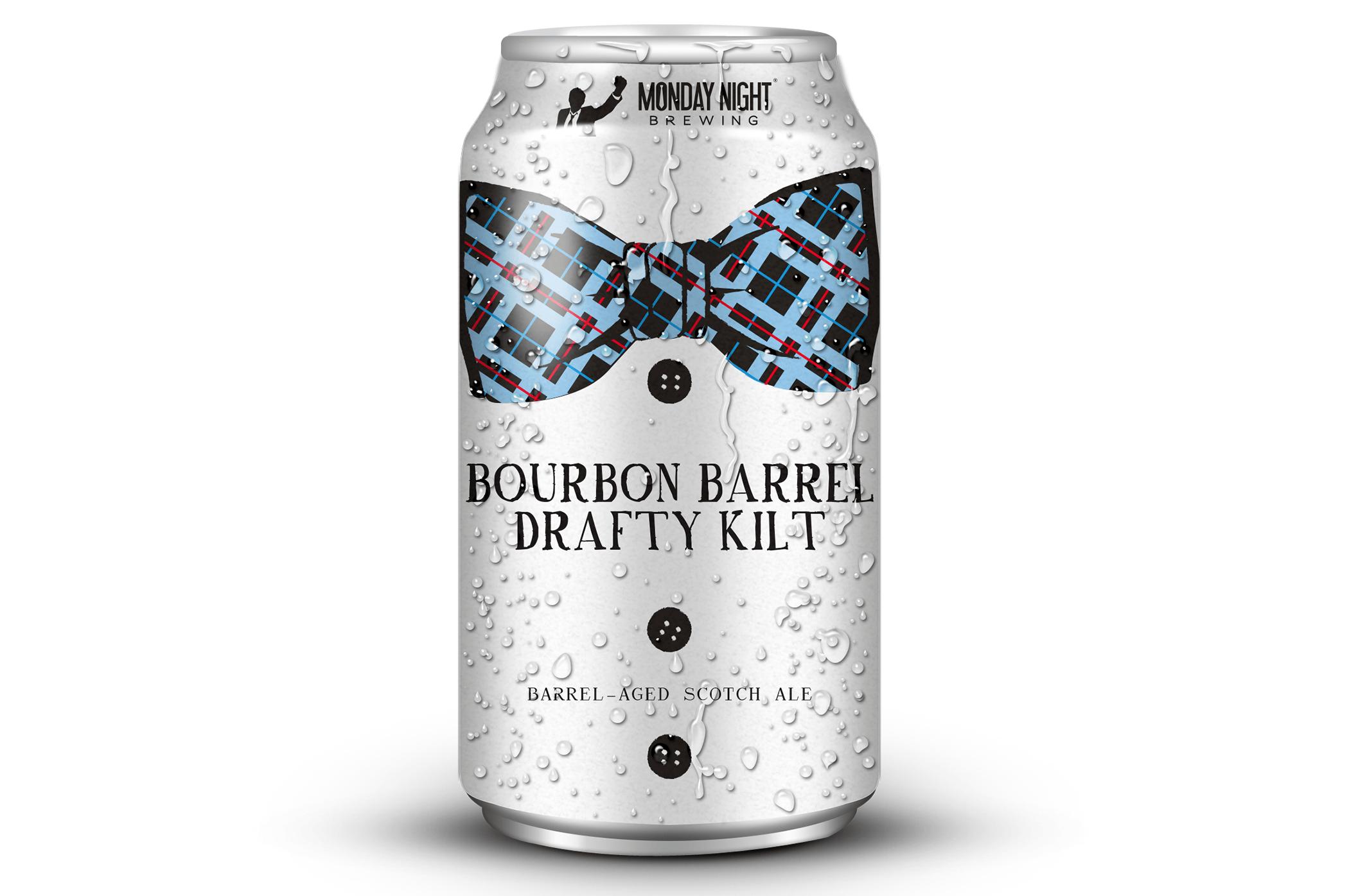 Monday Night Bourbon Barrel Drafty Kilt cans return