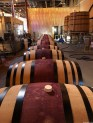 Early afternoon the day after. Kiley & team fills barrels from his wine making days