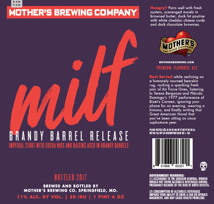 Mother's Brewing Brandy Barrel MILF