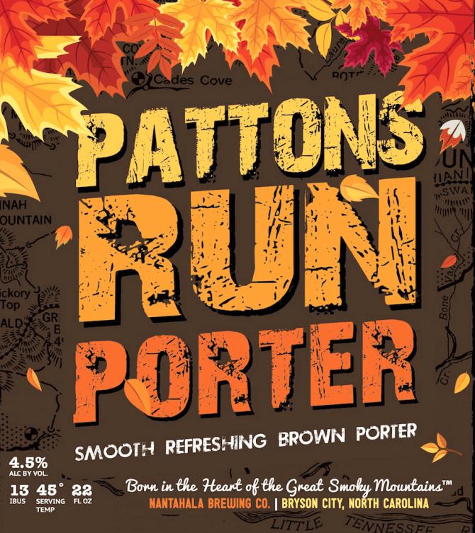 Nantahala brewing pattons run porter