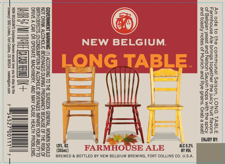 New Belgium Long Table