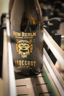 New Realm Brewing Radegast on the bottling line