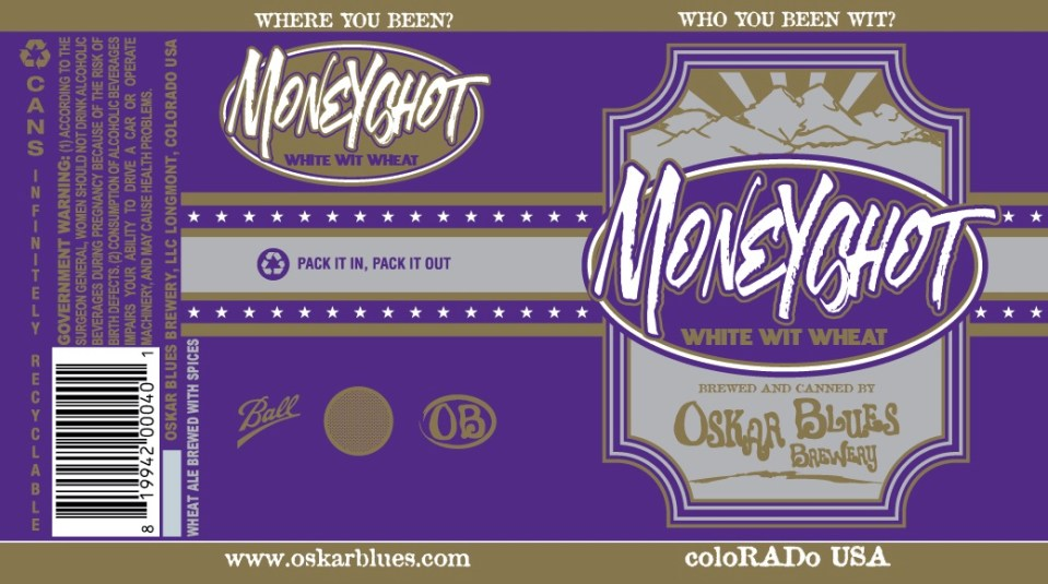 Oskar Blues Moneyshot White Wit Wheat