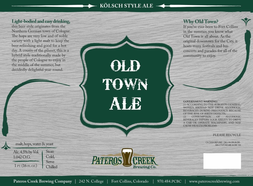 Pateros Creek Old Town Pale Ale Cans