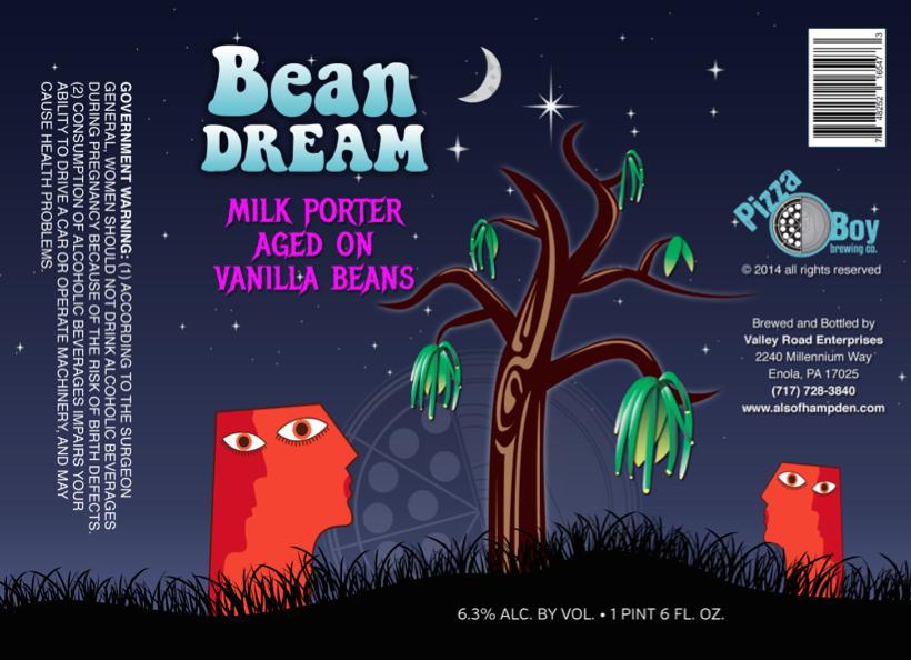 Pizza Boy Bean Dream Milk Porter
