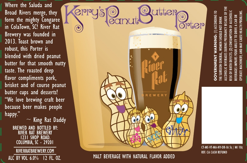 River Rat Kerry's Peanut Butter Porter