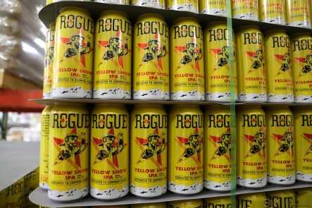 Rogue Yellow Snow empties waiting to be filled