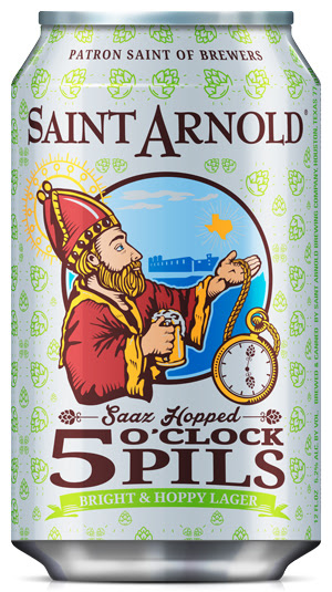 Saint Arnold 5' O Clock Pils can