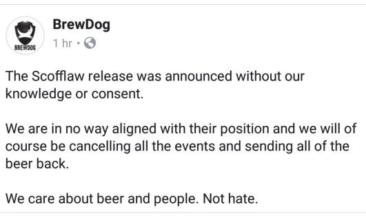Brewdog Scofflaw Tweet