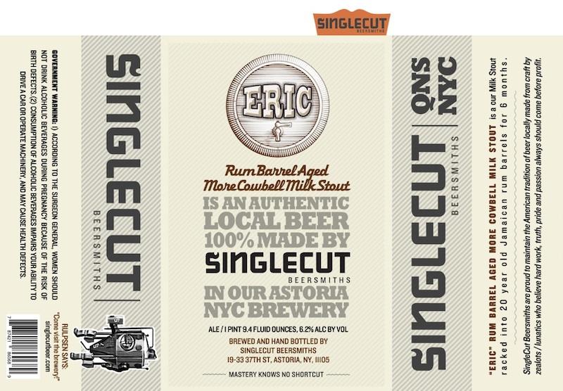 Singlecut Beersmiths Eric Rum Barrel Aged More Cowbell Milk Stout