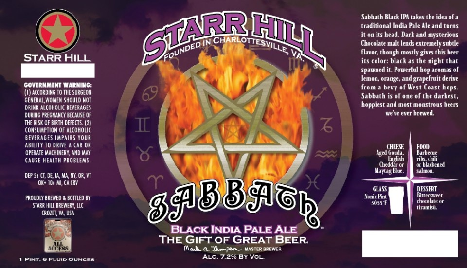 Starr Hill Sabbath Black India Pale Ale
