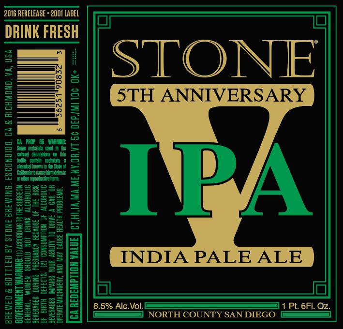Stone 5th Anniversary IPA