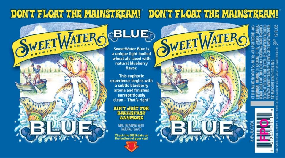 SweetWater Blue Cans