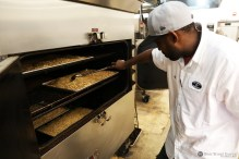 SweetWater malt being smoked at Fox Bros BBQ