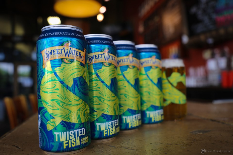 SweetWater Twisted Fish cans