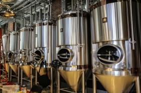 Fermentation vessels in the Terrapin ATL Brew Lab