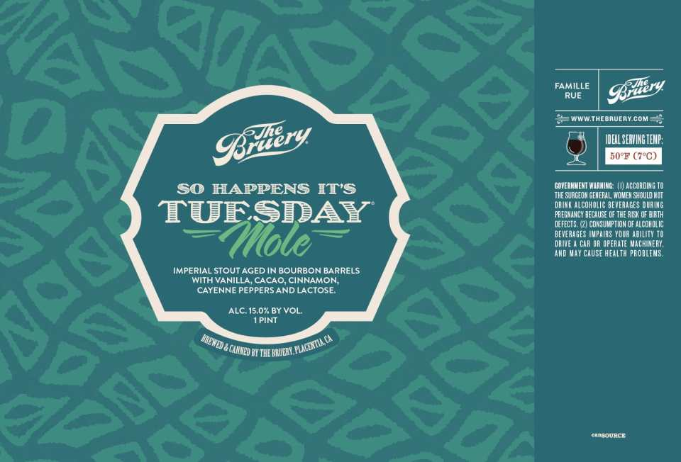 The Bruery So Happens It's Tuesday Mole