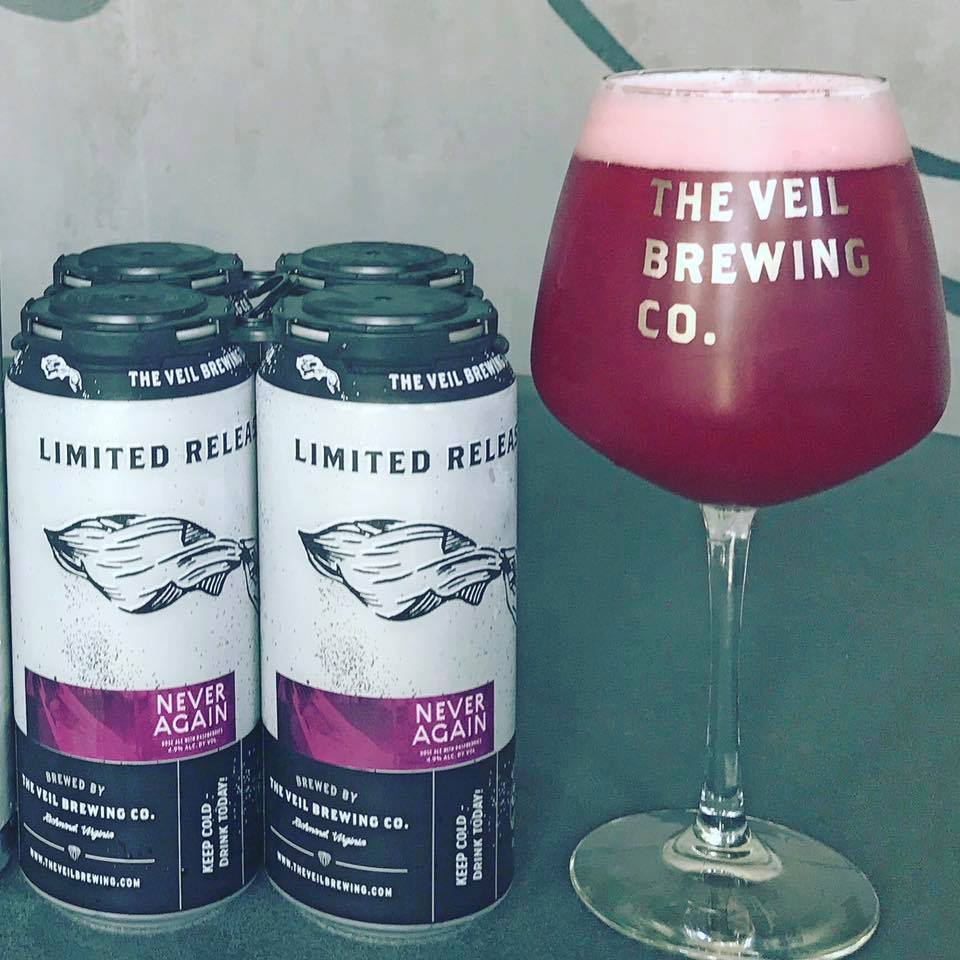 The Veil Brewing Never Again Raspberry Gose