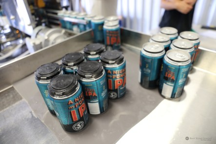 Coming down the canning line.