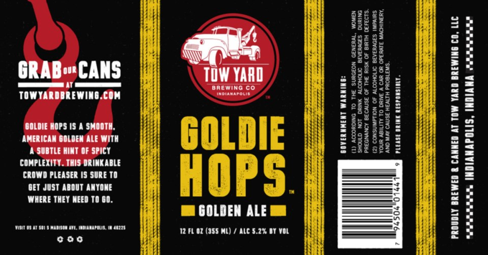 Tow Yard Brewing Goldie Hops Golden Ale