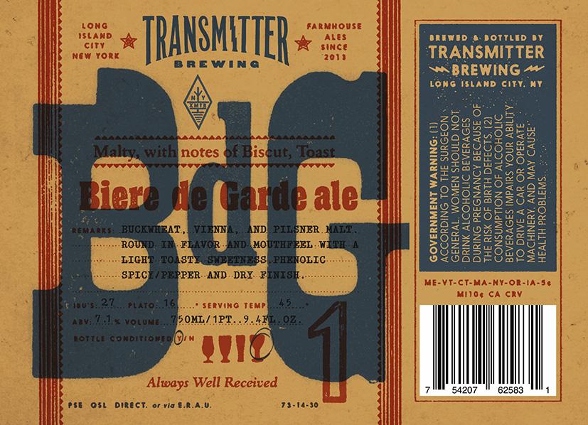 Transmitter Brewing BDG Ale
