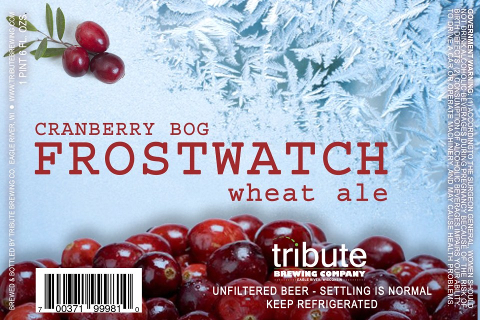 Tribute Frostwatch Cranberry Wheat Ale