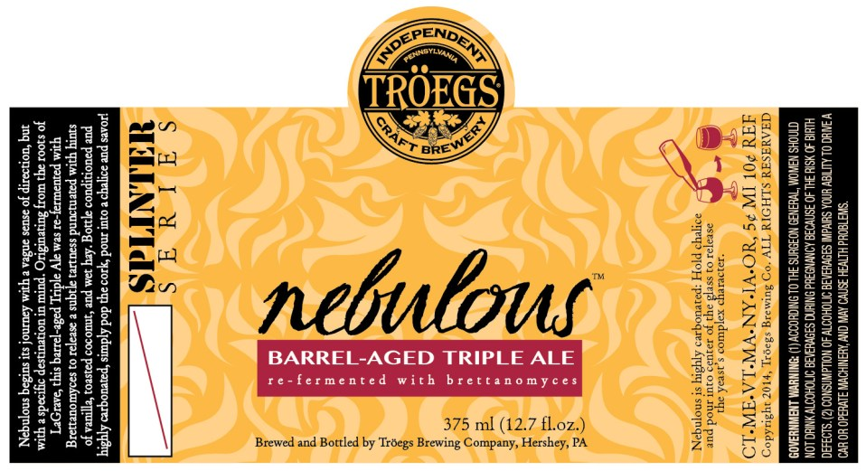 Troegs Nebulous Barrel Aged Triple Ale