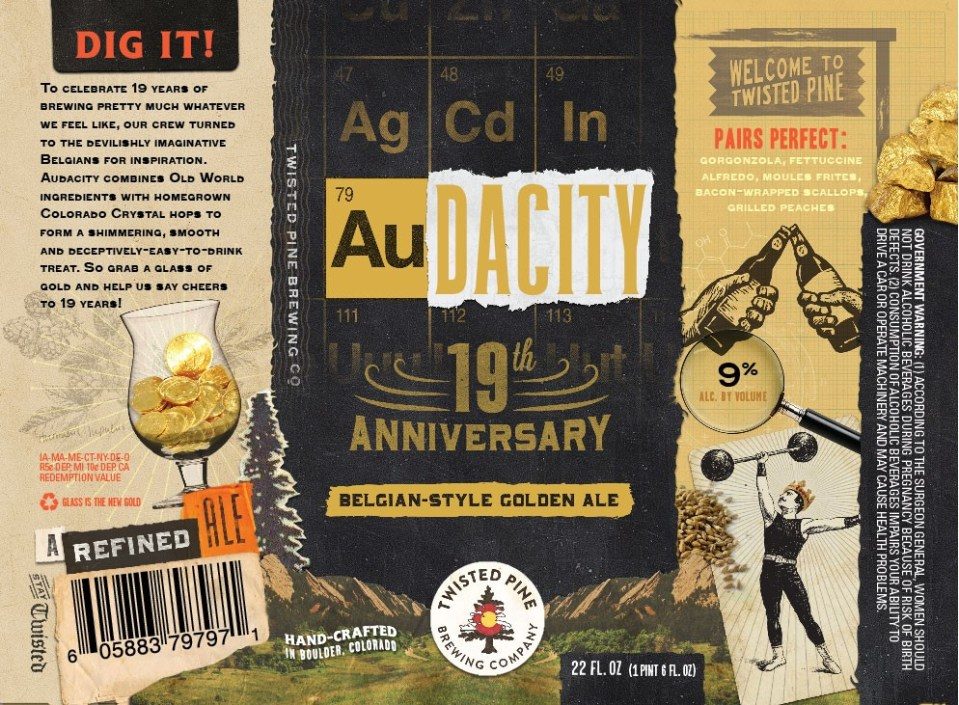Twisted Pine Brewing Audacity 19th Anniversary