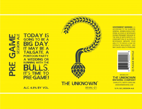 Unknown Brewing Pre Game Session Ale