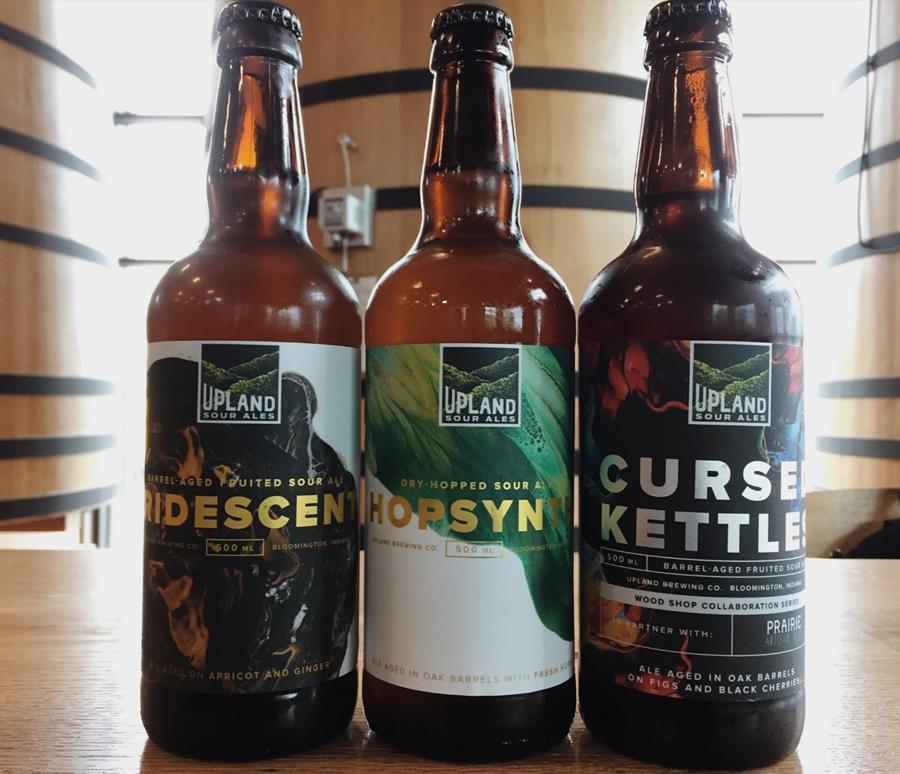 Upland Sour Ale bottles