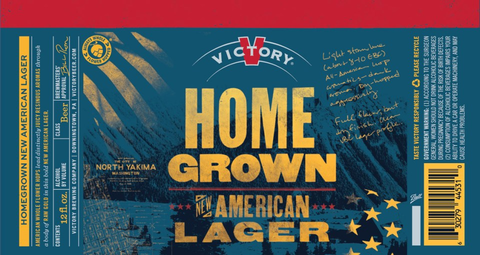 Victory HomeGrown New American Lager