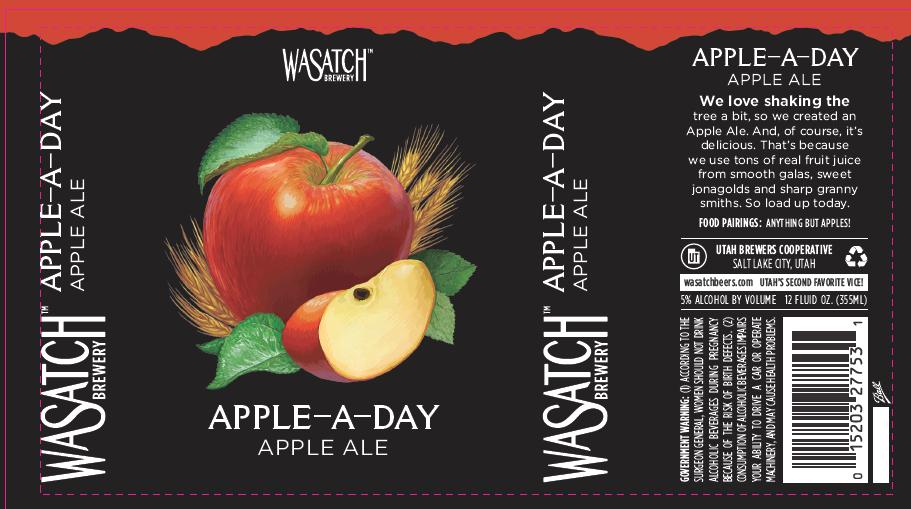 Wasatch Apple-A-Day Apple Ale