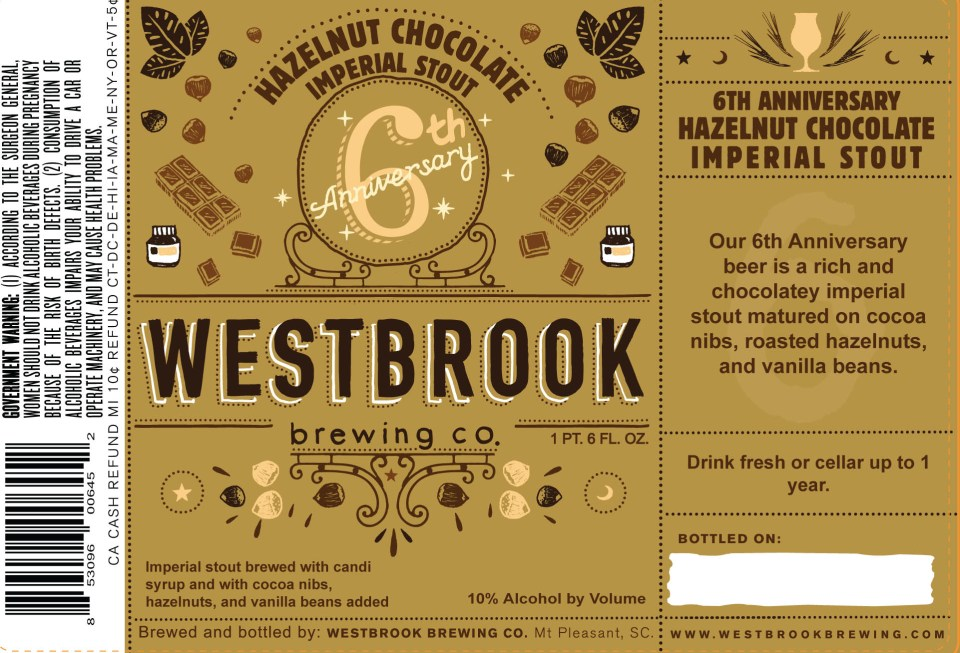 Westbrook Hazelnut Chocolate Imperial Stout