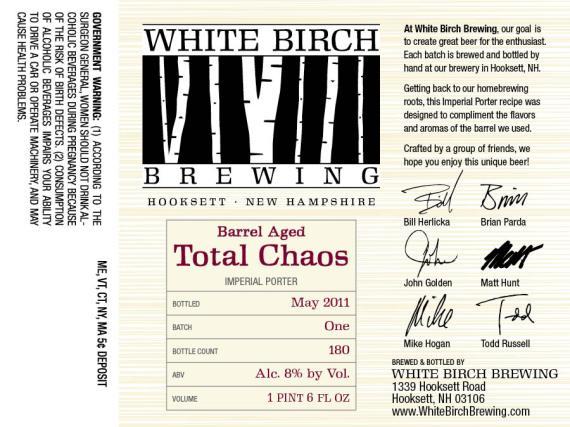 White Birch Barrel Aged Total Chaos