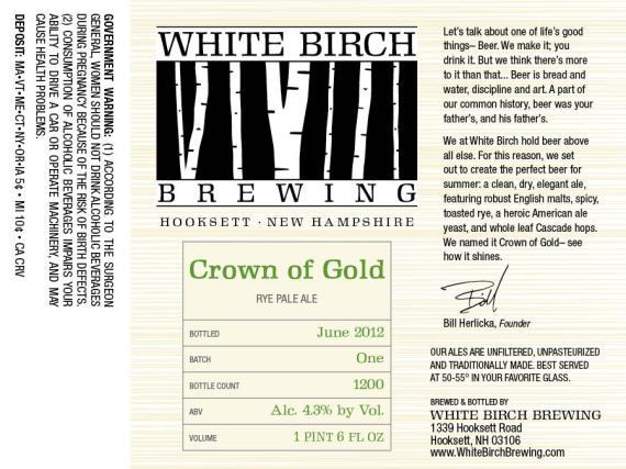 White Birch Crown Of Gold