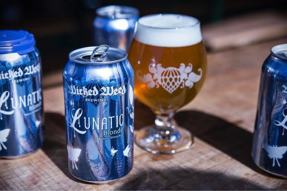 Wicked Weed Lunatic Blonde cans