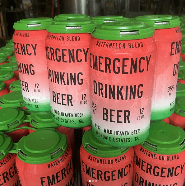 Wild Heaven Watermelon Emergency Drinking Beer