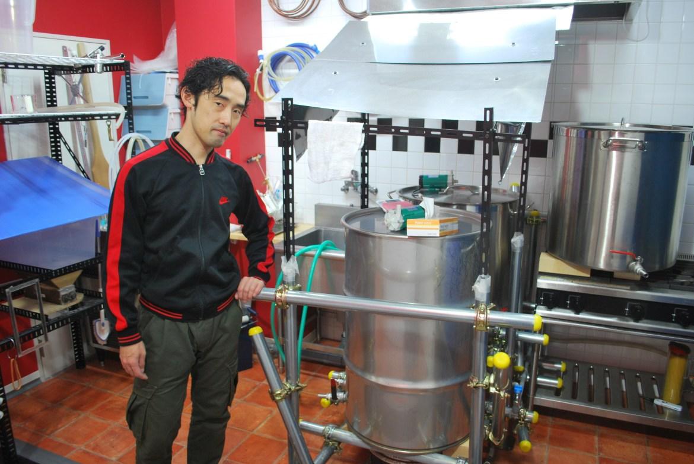 Tanoue-san with Kazekami Brewery
