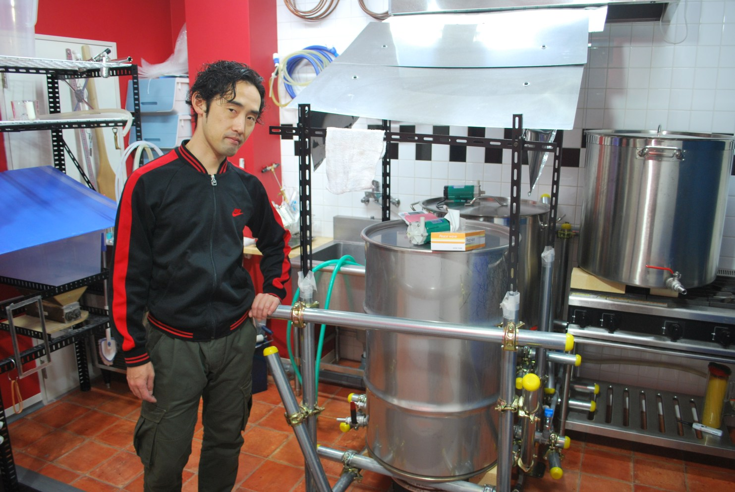 Tanoue-san with Kazekami Brewery