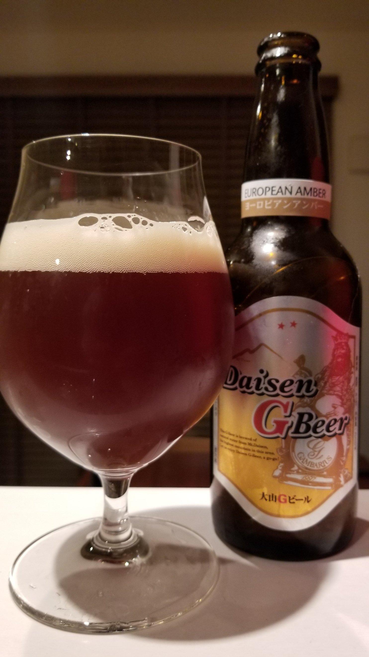 Daisen G Beer European Amber大山Gビールヨーロピアンアンバー